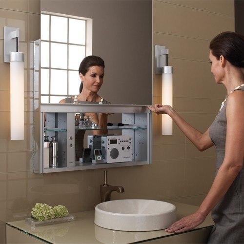 Robern UC3027FPE Uplift Mirrored Medicine Cabinet-30 Inch W x27 ...
