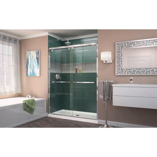 Encore Shower Door 01 B CenterDrain