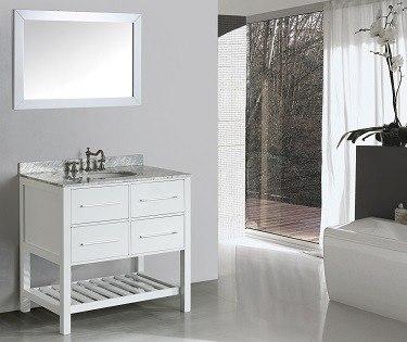 Bosconi SB-250-3WH Contemporary Single Vanity
