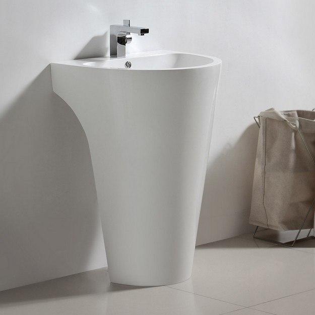 Fresca White Pedestal Sink