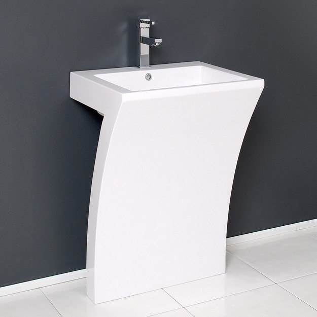Fresca FCB5024WH Pedestal Sink