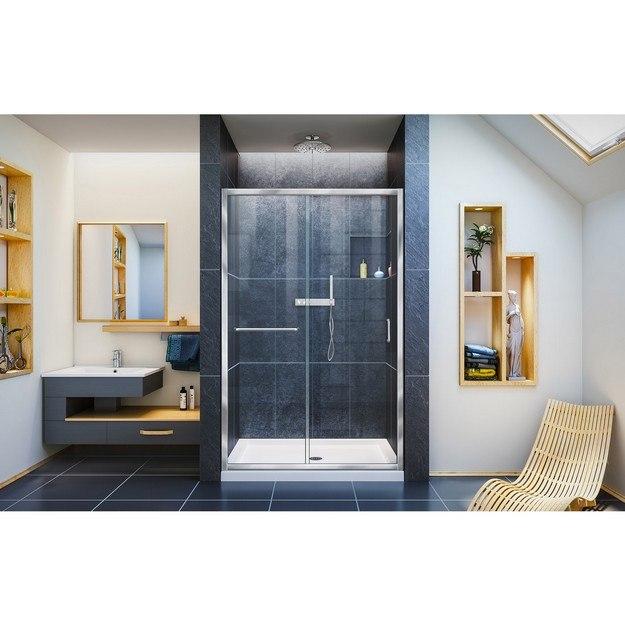 Infinity Z Shower Door 48 Chrome