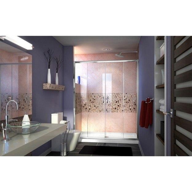 Visions Shower Door in Brushed Nickel