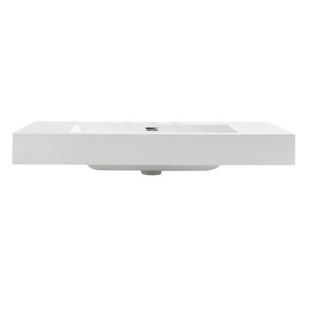 Fresca FVS8090WH Vista with Countertop