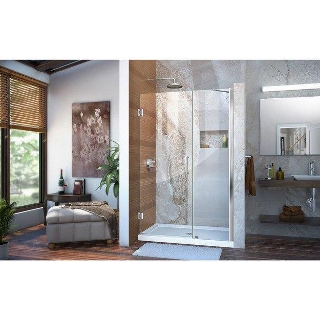 Unidoor Shower Door with Base and support arm 01