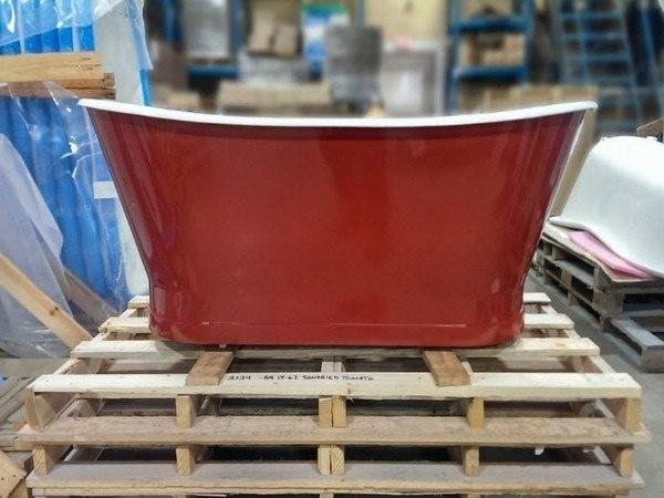 Custom painted bathtub exterior