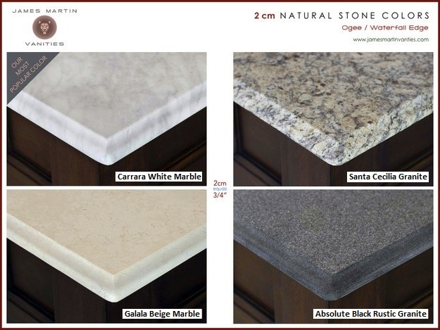 2cm Natural Stone Top Options