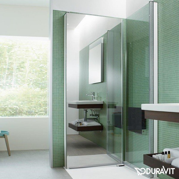 duravit 770010 openspace b shower screen rectangle for. Black Bedroom Furniture Sets. Home Design Ideas