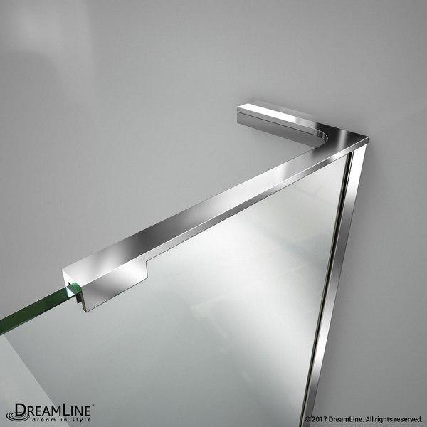 Shower Door L-Bracket Generic Chrome