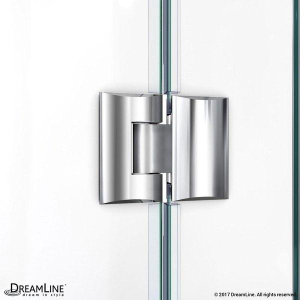 Unidoor X Shower Door Glass To Glass Hinge Chrome