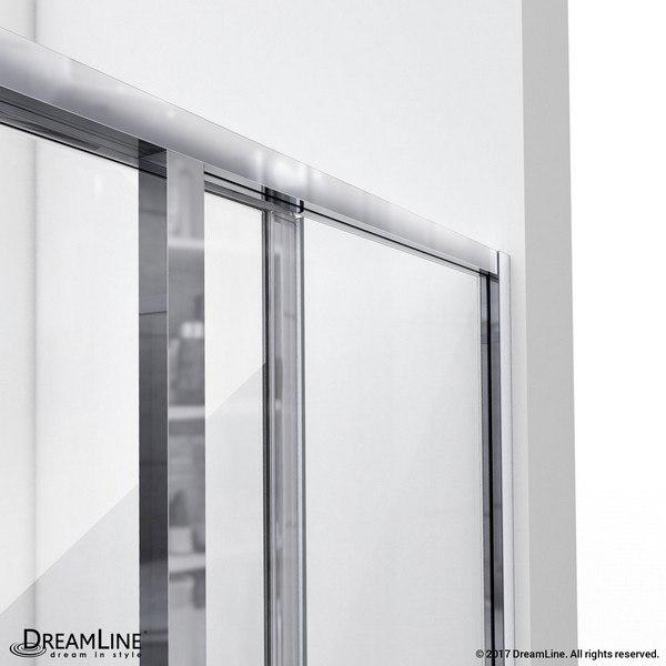 CornerView Shower Door Top Track Open Door Chrome