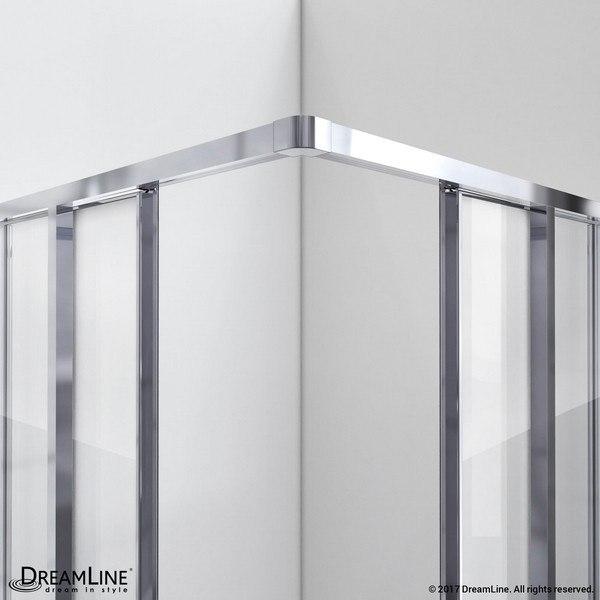 CornerView Shower Enclosure Open Chrome