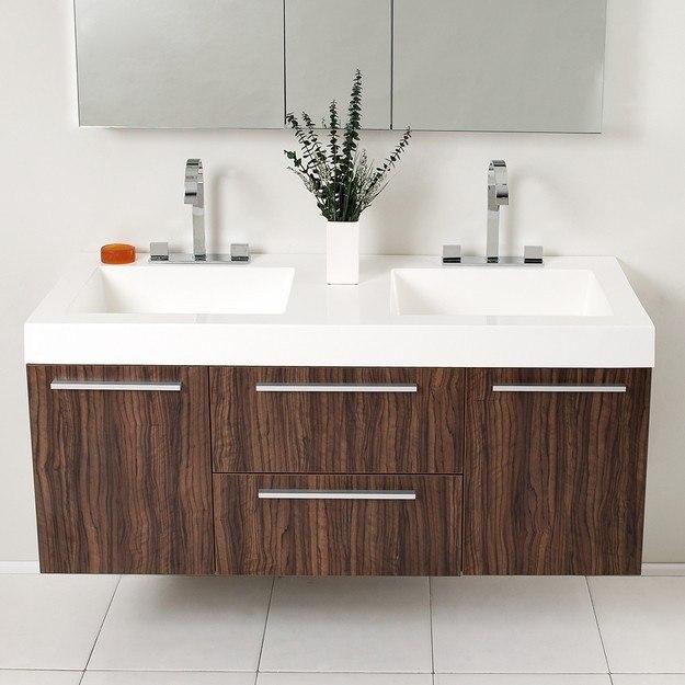 FVN8013GW Opulento 54 Inch Walnut Modern Double Sink ...