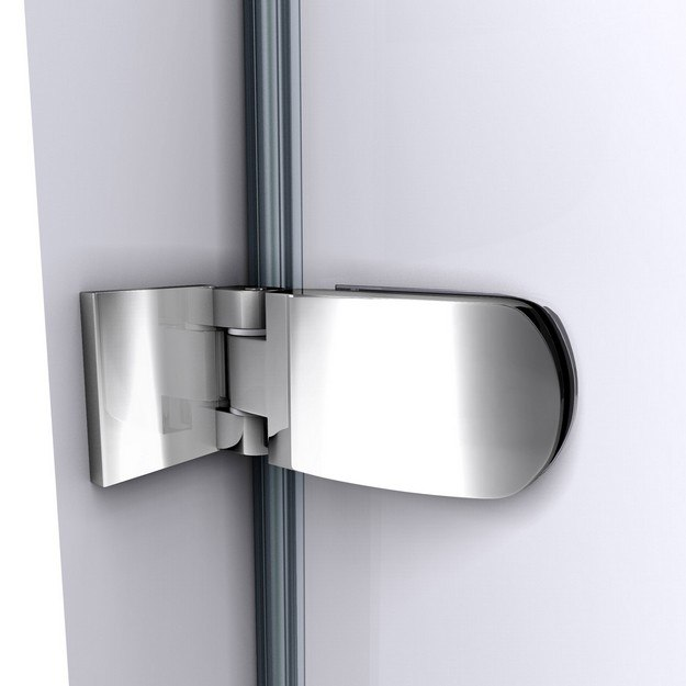 Aqua Uno Shower Door Wall to Glass Hinge Chrome