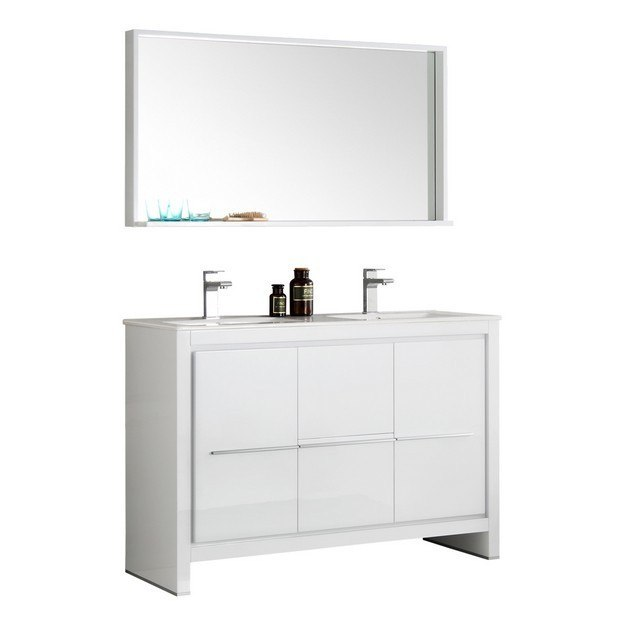 Fvn8148wh D Trieste Allier 48 Inch White Modern Double