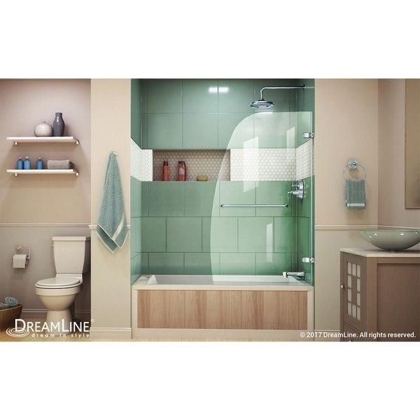 AquaUno Tub Door RS23 in Chrome