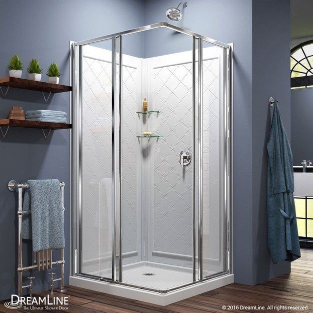 Cornerview Complete Shower Solution Open Door
