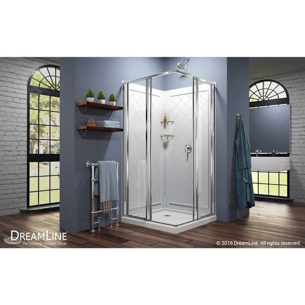 Cornerview Complete Shower Solution Open Door Interior