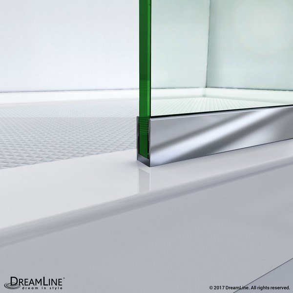 Linea Shower Door Bottom Track Chrome