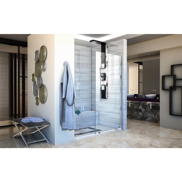 Linea Shower Door in Chrome