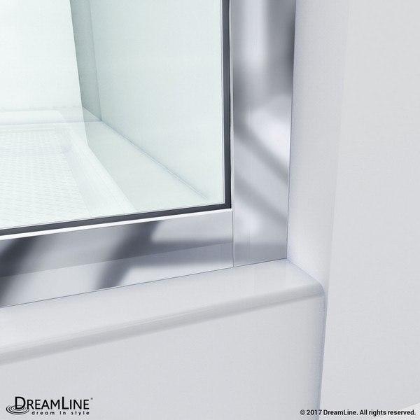 Linea Shower Door Wall Profile Corner Chrome