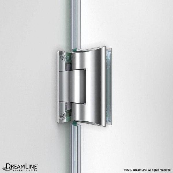 Unidoor Shower Door Glass To Wall Hinge Chrome