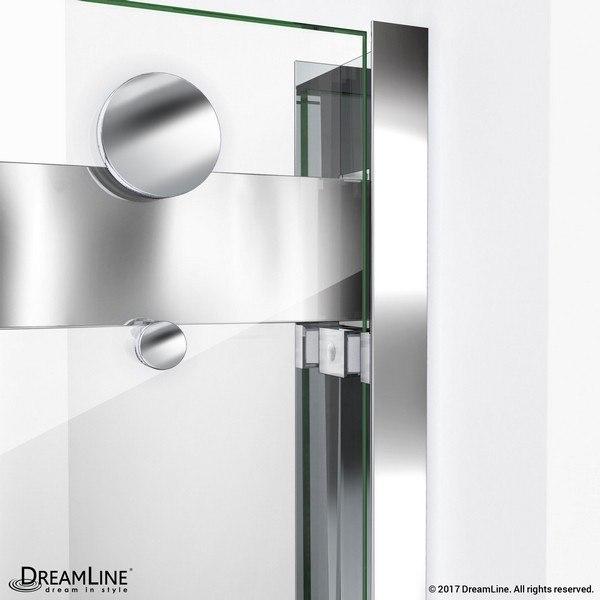 EssenceH Shower Door Wall Profile Chrome