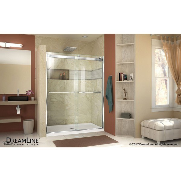 Essence H Shower Door Chrome B Center Drain