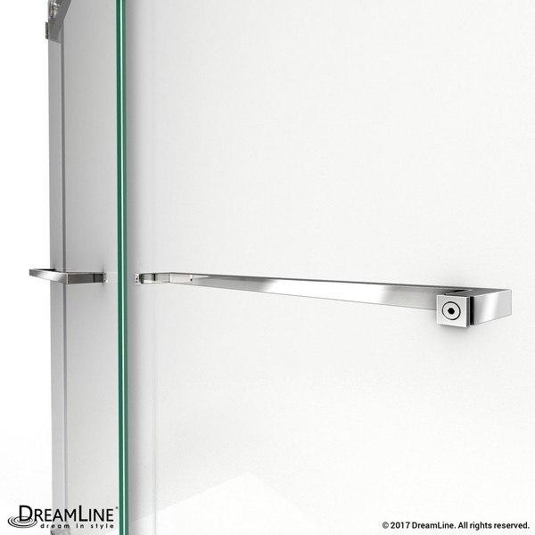 Essence Shower Door Towel Bars in Chrome
