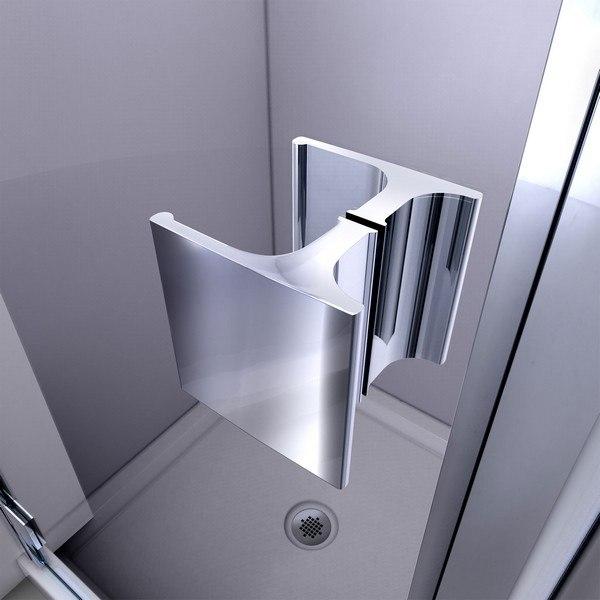 Lumen Shower Door Handle Chrome