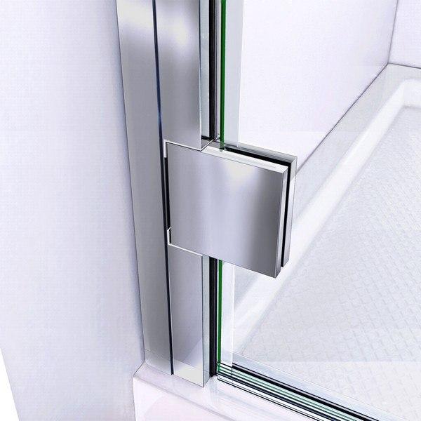 Lumen Shower Door Hinge Chrome