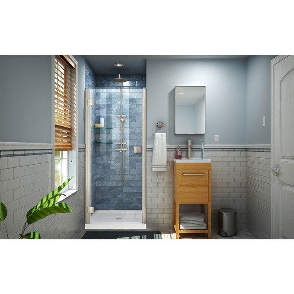 Lumen Shower Door in Brushed Nickel