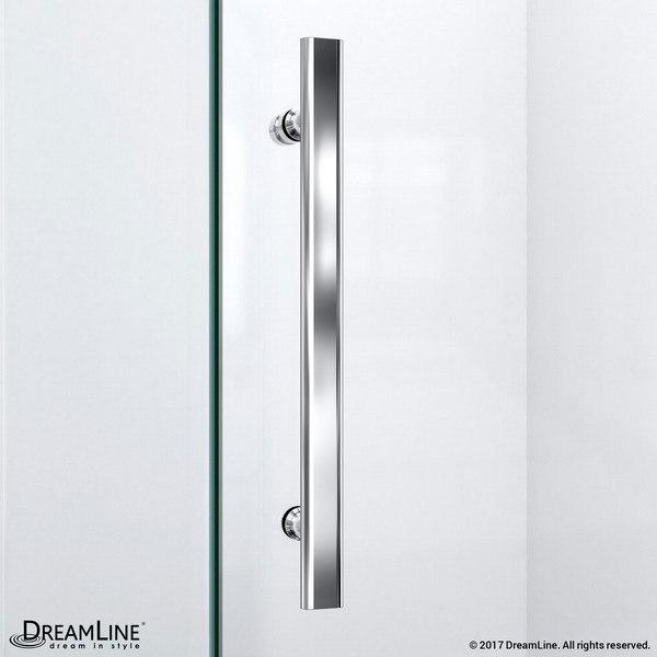 QuatraLux Shower Door Handle Chrome