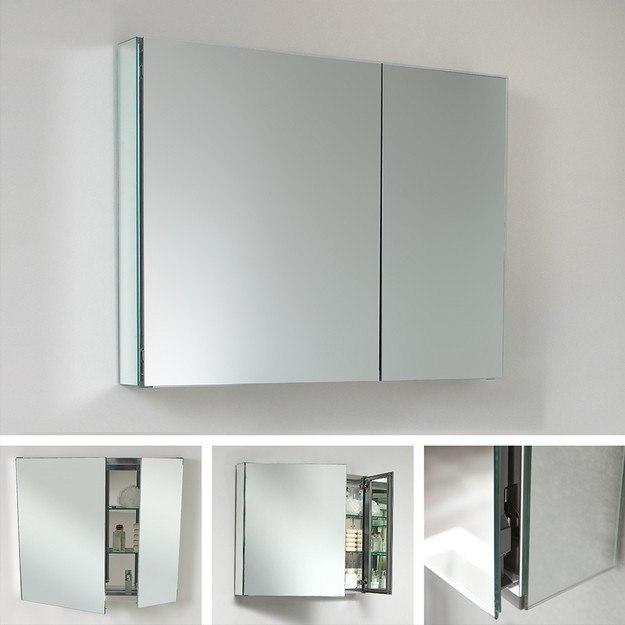 Fresca fmc8090 medium 29 5 inch wide bathroom medicine for Bathroom cabinets 55cm wide