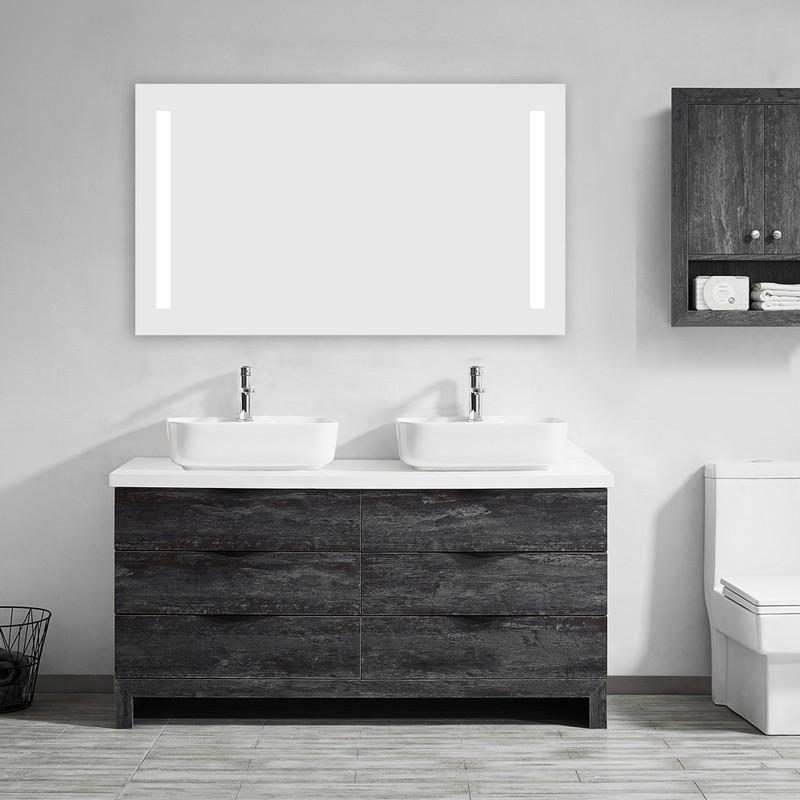 Vinnova 806048r Led Nf 48 Inch Electric Lighted Modern Bathroom Vanity Wall Mirror 806048r Led Nf 806048rlednf