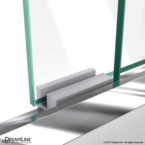 Duet Shower Door Guide Block in Chrome
