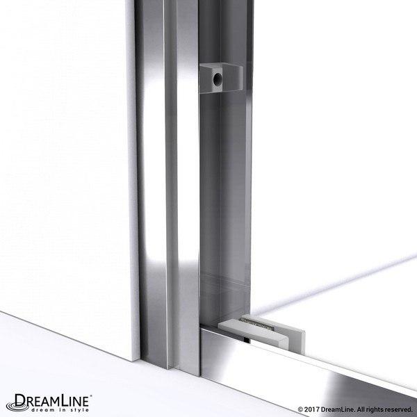 Duet Shower Door Wall Profile Chrome