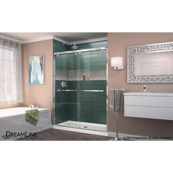 Encore Shower Door Chrome B Center Drain