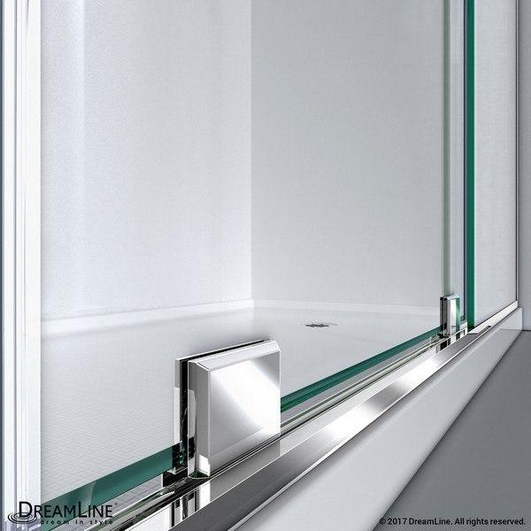 Mirage X Shower Door Bottom Brackets Chrome