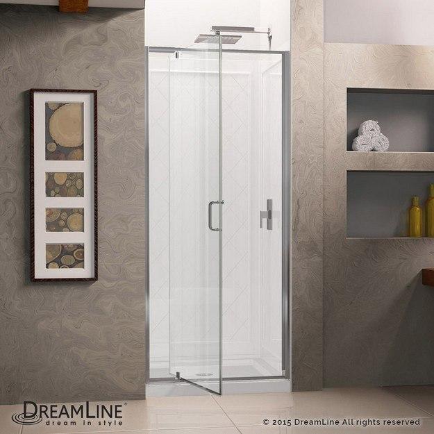 Flex Shower Door Open Door Complete Kit