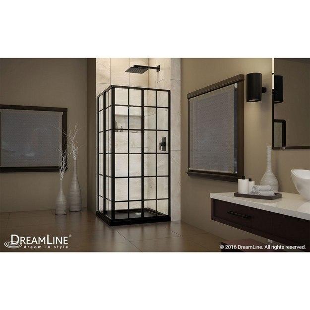 sector handle kits tray corner shower complete dreamline profile