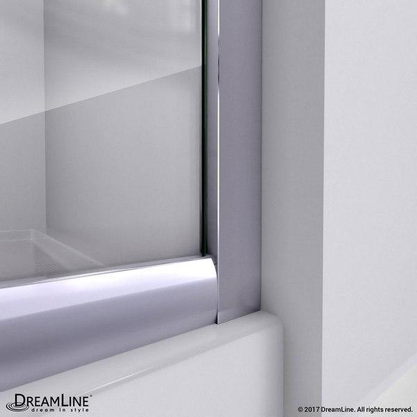 Prime Shower-Enclosure Wall Profile Track Chrome