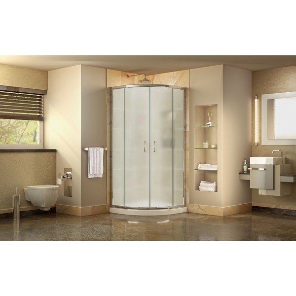 Prime Shower Enclosure Frosted Glass White Base