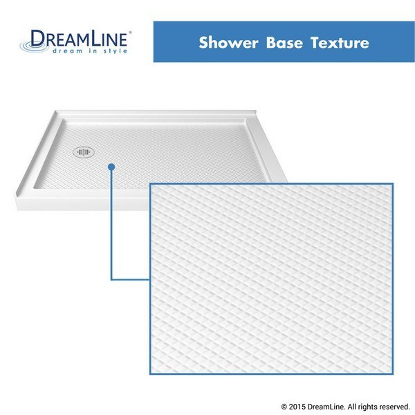 Double Threshold Shower Base Texture in White