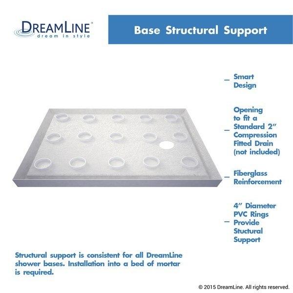 Slimline Black Shower Base Structural Support L