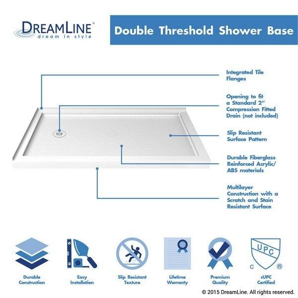 Double Threshold Base Left Drain 60 Highlights in White