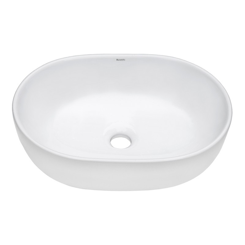 Ruvati Rvb0424 24 X 16 Inch Bathroom Vessel Sink White Oval Above Vanity Countertop Porcelain Ceramic