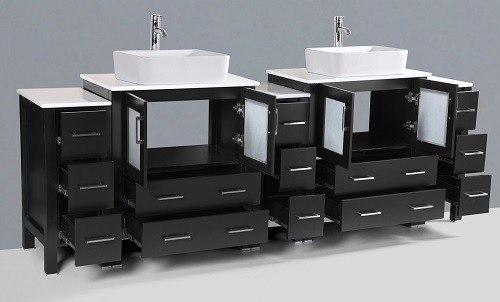 """96"""" Bosconi AB230RC3S Double Vanity"""