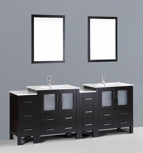 """84"""" Bosconi AB230U2S Double Vanity"""