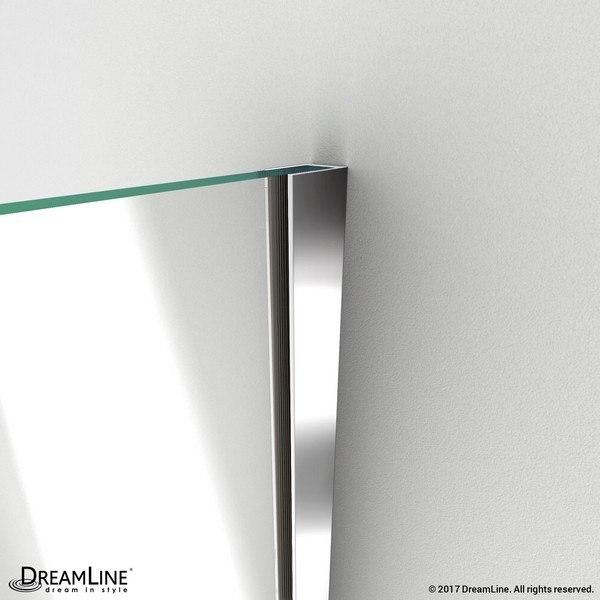 Unidoor Plus Shower Door Wall Profile Chrome